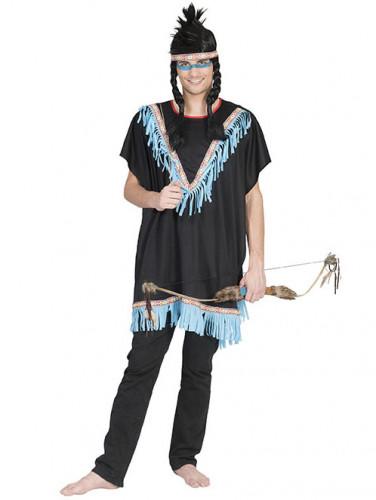 d guisement indien franges bleues homme deguise toi achat de d guisements adultes. Black Bedroom Furniture Sets. Home Design Ideas