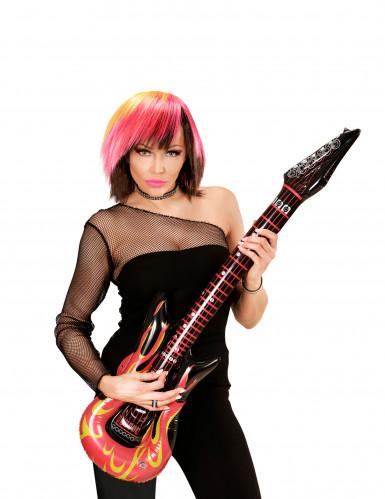 Guitare rock en flammes gonflable 105 cm-1