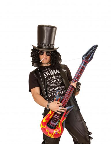 Guitare rock en flammes gonflable 105 cm-2