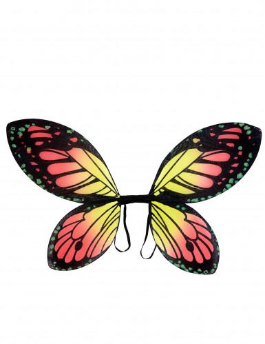 Ailes papillon des couleurs fille