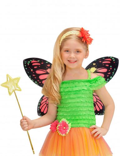 Ailes papillon des couleurs fille-1