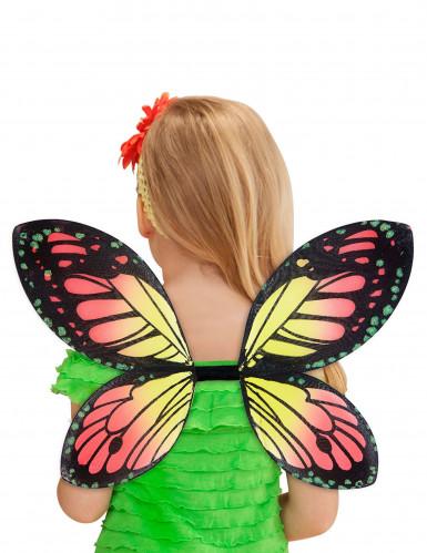 Ailes papillon des couleurs fille-2
