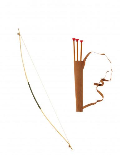Arc avec étui et fléchettes 100 cm