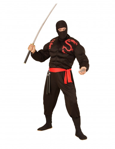 Cagoule ninja noire adulte-1