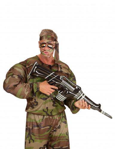 Mitraillette gangster gonflable noire et blanche 90 cm-2