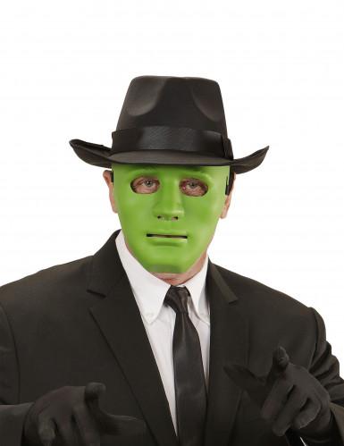 Masque anonyme vert adulte