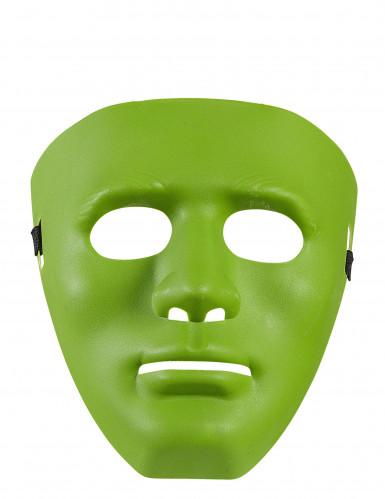 Masque anonyme vert adulte-1
