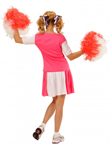 Déguisement pompom girl rose et blanc femme-1