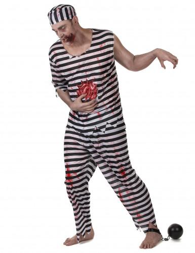 Déguisement prisonnier zombie effrayant homme-1