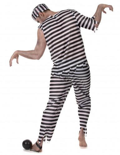 Déguisement prisonnier zombie effrayant homme-2