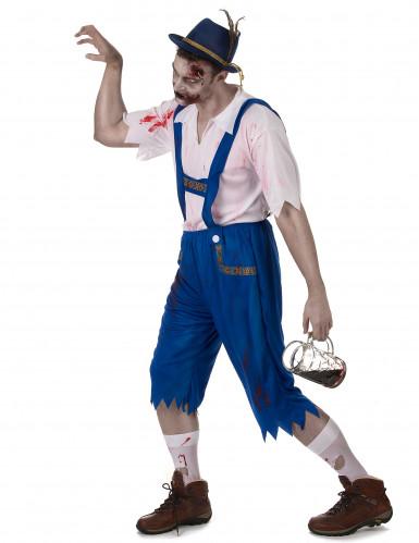 Déguisement zombie bavarois bleu homme-1