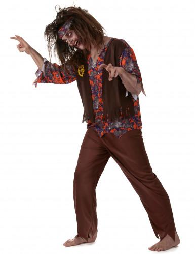 Déguisement zombie hippie homme-1