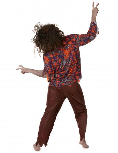 Déguisement zombie hippie homme-2