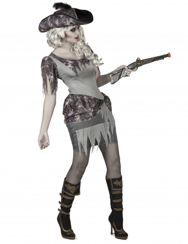 Déguisement pirate fantôme grise femme-1