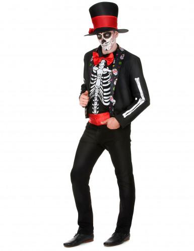 Déguisement Squelette motifs Dia de los muertos homme-1