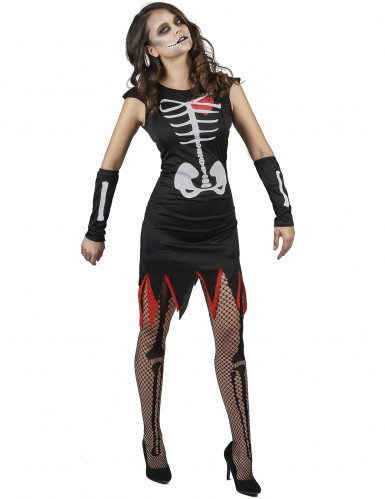 Déguisement squelette coeur vivant femme-1