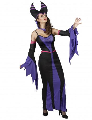 Déguisement maléfique violet femme-1