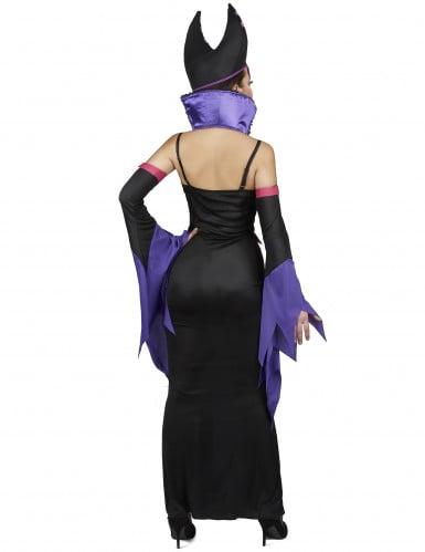 Déguisement démoniaque violet femme-2