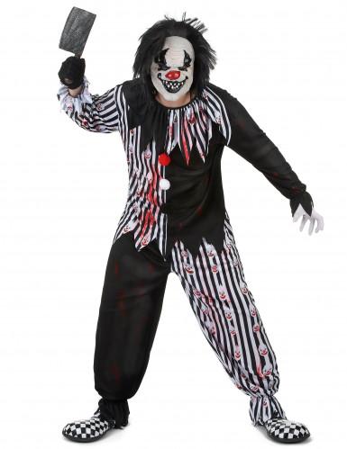 Déguisement clown psychopathe homme-1