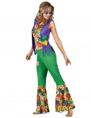 Déguisement Hippie flower power femme-1