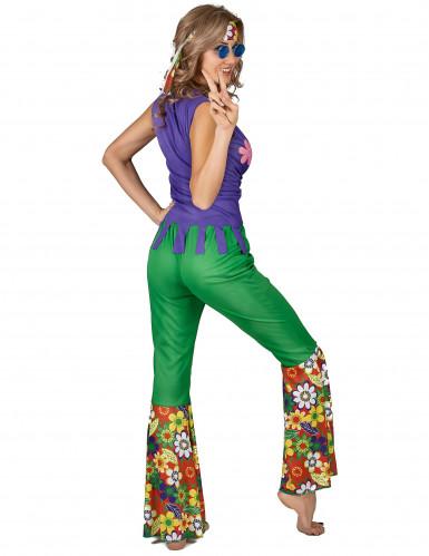 Déguisement Hippie flower power femme-2