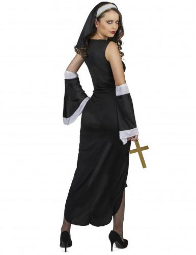 Déguisement nonne sexy croix blanche femme-2