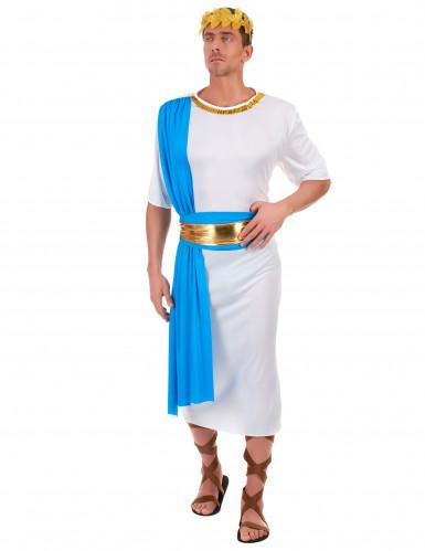 Déguisement empereur Grec bleu homme