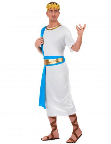 Déguisement empereur Grec bleu homme-1