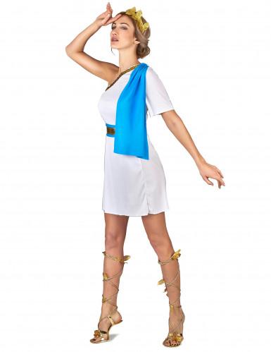 Déguisement impératrice Grecque bleue femme-1