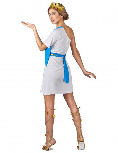 Déguisement impératrice Grecque bleue femme-2