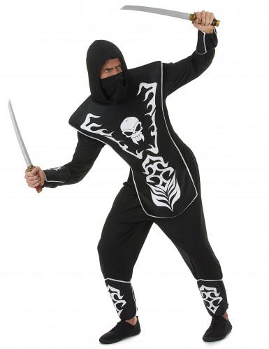 Déguisement ninja squelette homme-1