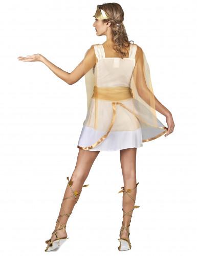 Déguisement déesse grecque blanche et or femme-2