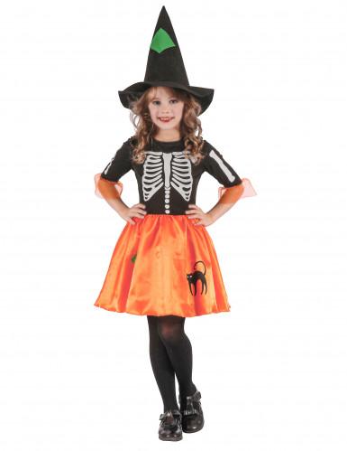 Déguisement sorcière squelette fille