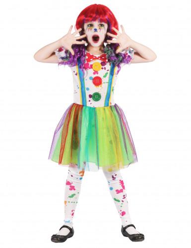 Déguisement clown peinture multicolore fille