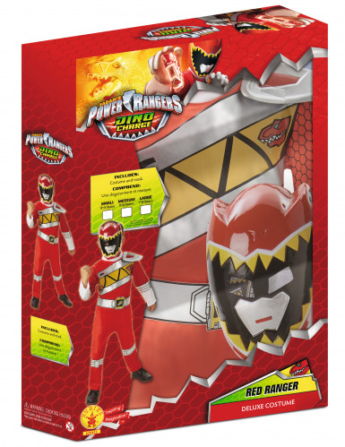 Coffret déguisement luxe Power Rangers Rouge Dino Charge™-1