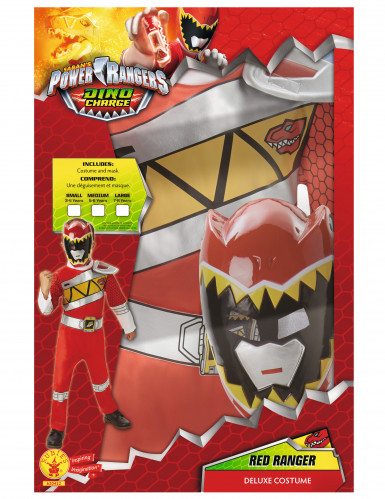Coffret déguisement luxe Power Rangers Rouge Dino Charge™-2
