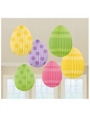 6 Décorations à suspendre œufs de Pâques 12 cm-1