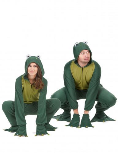 Déguisement de couple combinaison capuche grenouille -1