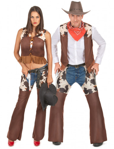 Déguisement de couple cowboy