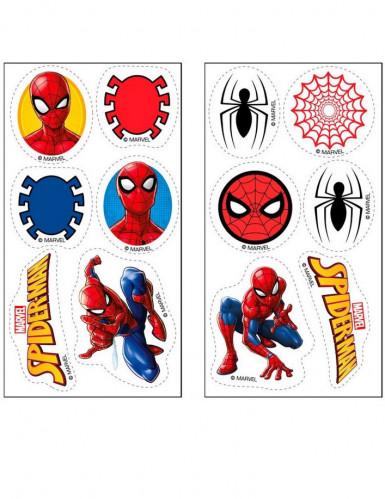 12 Mini disques en sucre Spiderman™ 3,4 cm