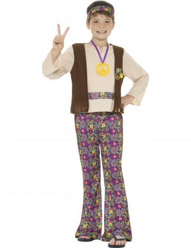 Déguisement hippie peace garçon