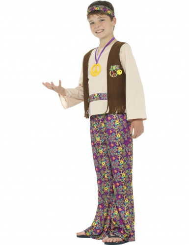 Déguisement hippie peace garçon-2