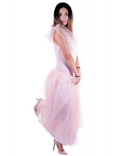 Déguisement princesse romantique rose femme-1