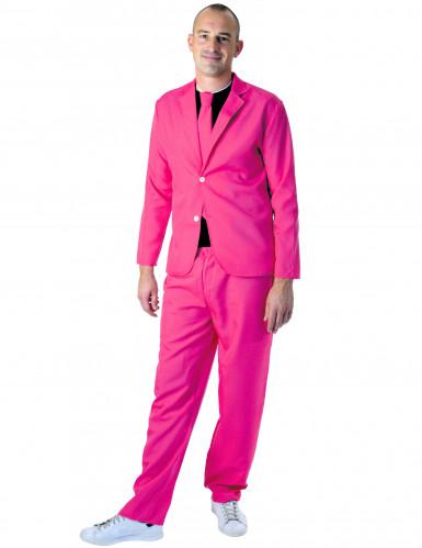 Costume fashion rose fluo adulte