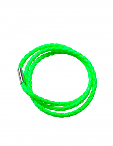 Bracelet tressé vert fluo adulte
