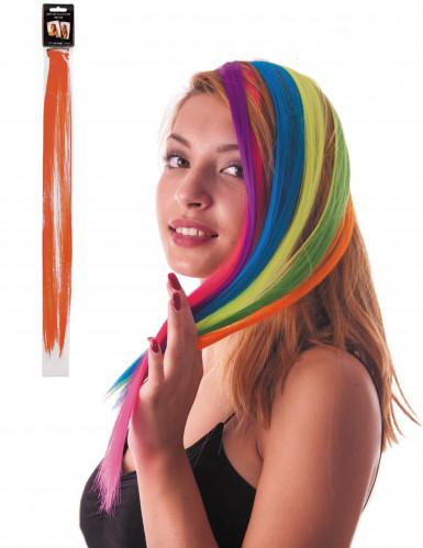 Mèche orange à clipser pour cheveux