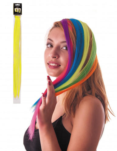 Mèche jaune à clipser pour cheveux