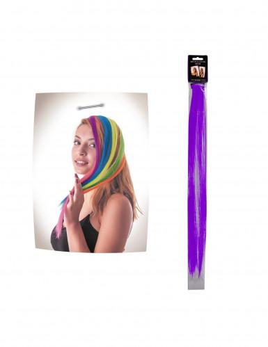 Mèche violette à clipser pour cheveux