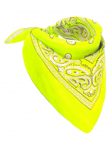 Bandana jaune fluo adulte