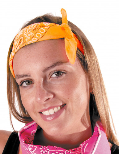 Bandana orange fluo adulte
